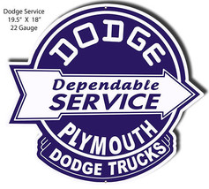 Dodge Plymouth Laser Cut Out Garage Shop Metal Sign 18x19.5 - $39.60