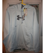 1 new under armour ua coldgear storm caliber hoodie grey L large loose fit - $40.00
