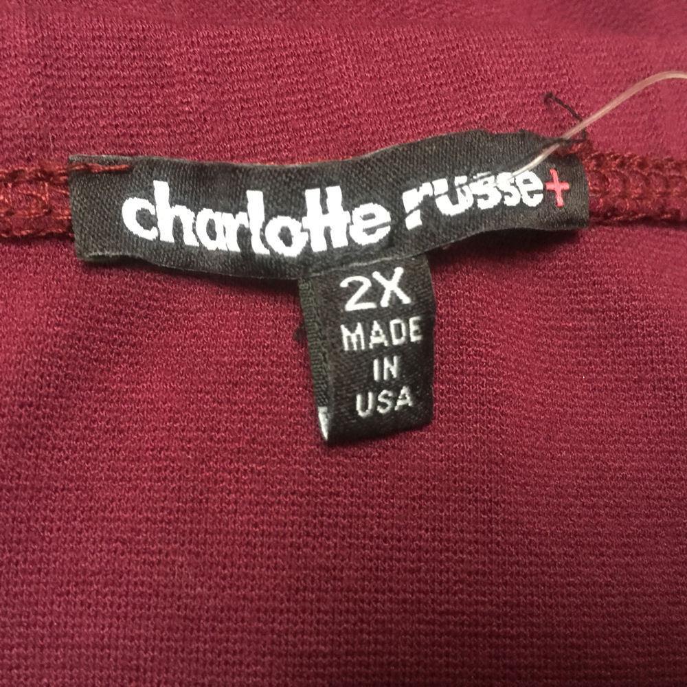 Charlotte Russe 2X Romper Burgundy Purple Spaghetti Strap Plus Size