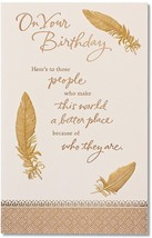 American Greetings On Your Birthday Birthday Card With Foil - $12.69