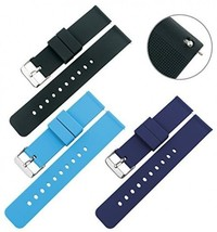 TON CHARME Quick Release Silicone Strap Straight End Watch Band With Stainless - $47.19