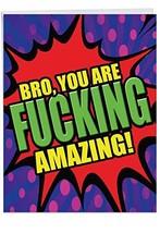 Hilarious F-King Amazing Brother Thank You (Jumbo F-king Amazing Bro J49... - $17.22
