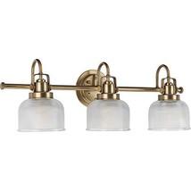 Progress Lighting P2992-163 Archie 3-Lt. Vintage Brass Bath Light, 8-3/4... - £159.21 GBP