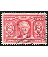 324, Used XF/Superb 2¢ Jefferson Stamp - A GEM - Stuart Katz - $30.00
