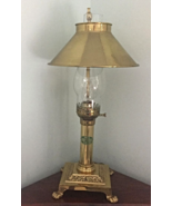 VINTAGE BRASS PARIS ORIENT EXPRESS ISTANBUL TABLE DESK LAMP ADJUSTABLE S... - $25.00
