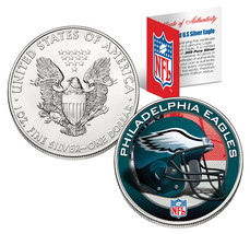 PHILADELPHIA EAGLES 1 Oz American Silver Eagle US Coin NFL OFFICALLY LIC... - $49.45