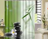 shower curtain bathroom decor jasmine flower decorations green bamboos fall trees thumb155 crop