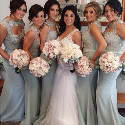 Gray bridesmaid dress,long bridesmaid dress,Mismatched bridesmaid dresses