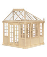 DOLLHOUSE MINIATURES UNFINISHED GREENHOUSE #GH078 - $89.99