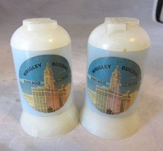 Vintage Wrigley Building salt & pepper shaker souvenir. Chicago, IL - $8.99