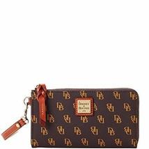 Dooney & Bourke Gretta Folded Zip Wristlet Brown T'Moro