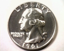 1961 WASHINGTON QUARTER SUPERB PROOF CAMEO SUPERB PR CAM NICE ORIGINAL COIN - $24.00