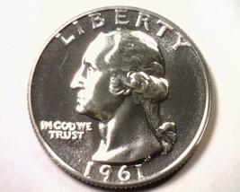 1961 WASHINGTON QUARTER SUPERB PROOF CAMEO SUPERB PR CAM NICE ORIGINAL COIN - $24.00