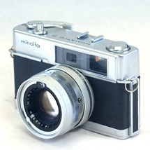 MINOLTA HI-MATIC 7 35mm Film VINTAGE Camera ROKKOR 45mm F1.8 Lens JAPAN - $61.20