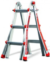 Multi Purpose Aluminum Ladder 13' Foldable 16 Positions A Frame Extensio... - $236.65