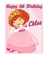 Strawberry Shortcake Berry Princess edible cake image birthday cake deco... - $7.80