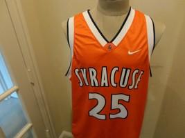 Vtg Orange Nike Syracuse Orange #25 NCAA Basketball Screen Jersey Adult ... - $43.16