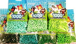 Perler Bead Bag, Green Group Dark, Light, Pastel, Bright, Parrot Green, ... - $43.10