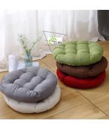 Round Shape Cotton Linen Cushion Pad Yoga Mat Tatami Floor Window Chair ... - $18.58+