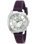 BRAND NEW Coach Womens 14502091 Boyfriend Signature Purple Strap Silver ... - $93.05