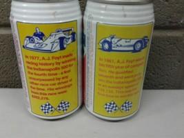 Pair of Vintage Steel Pull Tab Pepsi Cans Indy Car Indianapolis 500 AJ F... - $18.69