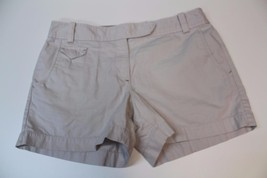 W12219 Womens ANN TAYLOR LOFT 100% cotton stone color CASUAL SHORTS, size 6 - $15.45