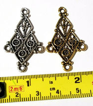 CHANDELIER FINE PEWTER PENDANT OR EARRING PART - ONE TO THREE image 3