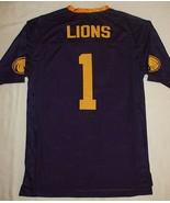 University North Alabama Jersey Una 1 Lions Purple Gold V-Neck T-shirt X... - $9.85