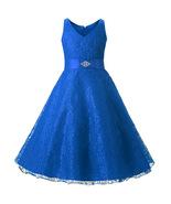 Cheap Flower Girls Dress Royal Blue Lace Party Dresses Pageant Dresses S... - $33.00
