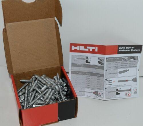 Hilti 433022 Kwik Con II PLUS TORX HWH 1/4 in x 2-1/4in silver screws 100 pc