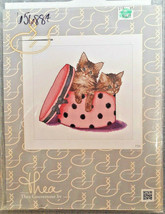 THEA GOUVERNEUR CROSS STITCH KIT #734 Kitten Twins Cats Play in Hat Box NEW - $19.99