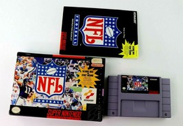 SNES NFL Football w/Box & Manual (Super Nintendo, 1993) Tested - $10.95