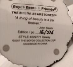 "Boyds ""Dewey"" Bearstone, #229771 image 5"