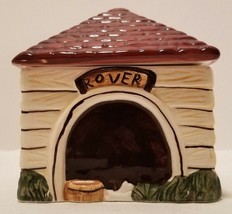 HTF 1995 Block China Country Village Dog House Rover Doghouse Sugar Bowl... - $19.40