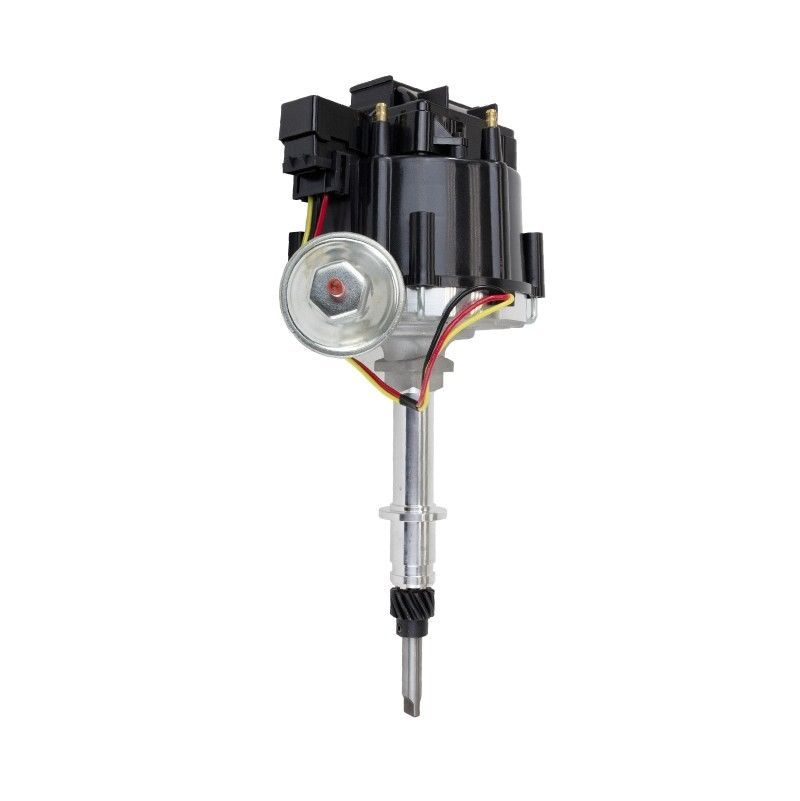 HEI Distributor 65K Coil 7500 RPM 6 Cylinder One Wire Installation Blue Cap