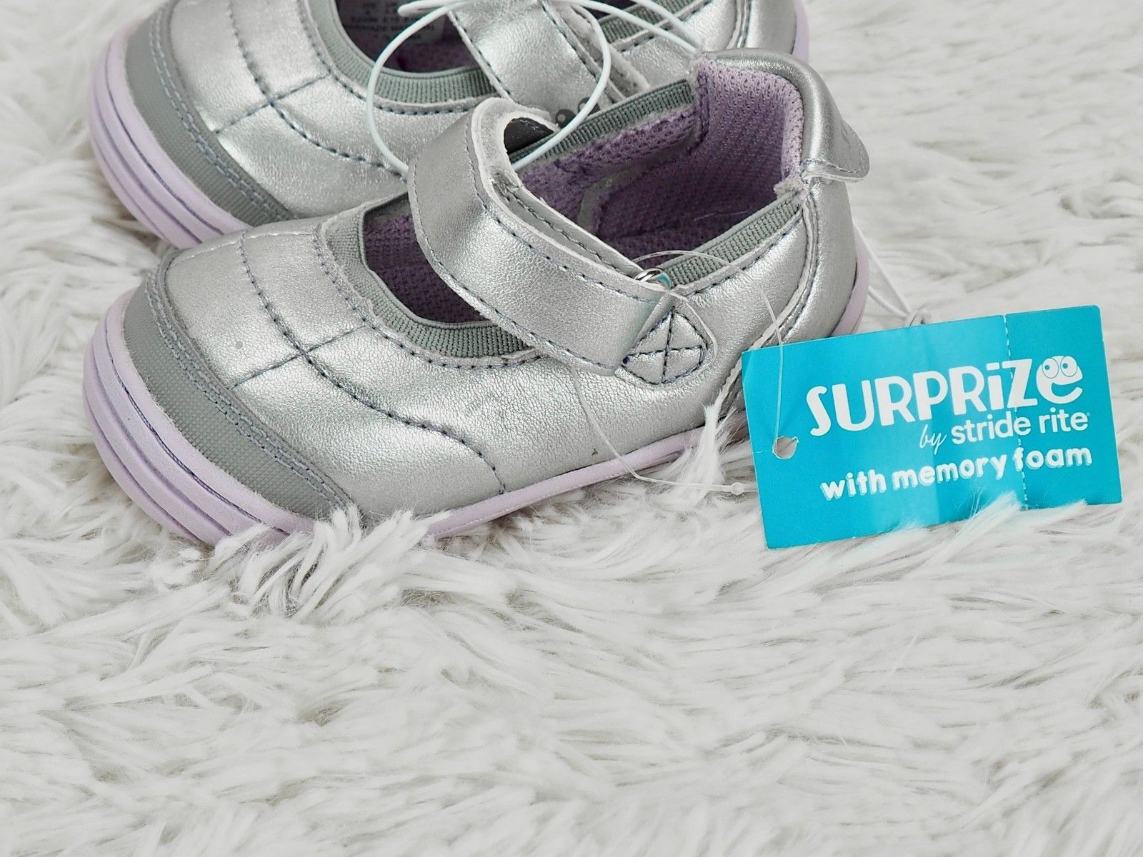 3dc2d28f9d2e 57. 57. Previous. STRIDE RITE SURPRIZE SNEAKERS  ASHBY  MARY JANE SHOES  Silver Metallic GIRLS 4