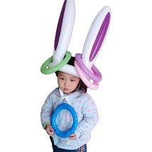 Inflatable Easter Bunny Kids Pool Toy Christmas Party Game Outdoor Fun R... - ₨672.52 INR