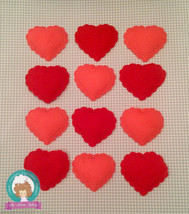 Valentine's hearts fondant cupcake toppers - $27.00