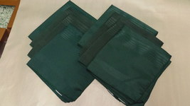 Set of 8 Green Napkin Polyester 17 Inches Square - $12.99