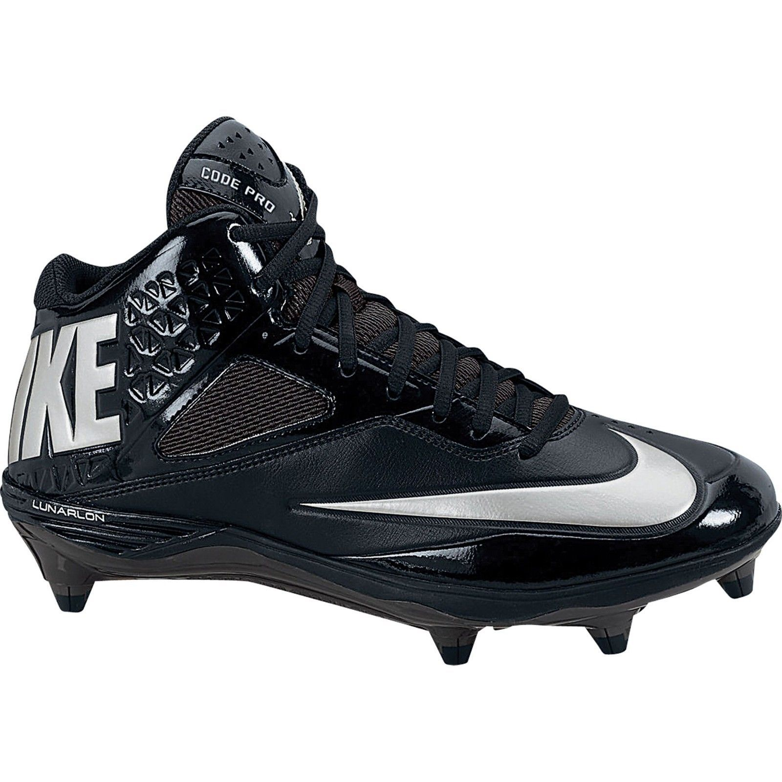 Primary image for Nike Men's Lunar Code Pro 3/4 Detach Football Cleats, 579668 002 Sizes 10-12 Blk
