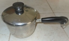 Vintage REVERE WARE 1801 USA Made 1 1/2 qt Sauce Pan & Lid Stainless Steel 93E - $21.99