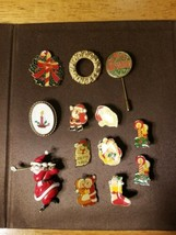 VINTAGE CHRISTMAS SANTA PIN BROOCH MIXED LOT - $23.33