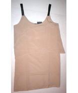 New NWT $218 S Small PJK Leather Strap Fabric Dress Womens Tank Beige Khaki - $87.20