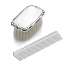 Sterling Silver Gift Boxed Boys Comb And Brush Set (Length=6.5) (Width=4... - $98.41