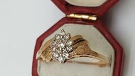 Vintage Estate 14k Yellow Gold .24cttw Diamond ring,1950's - $559.00