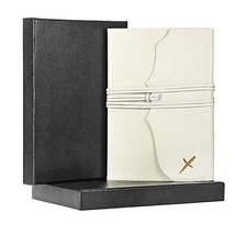 Blank Genuine Leather Travel Journal Notebook Diary Writing Notepad for Men & Wo