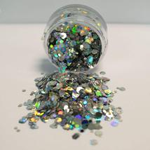 Chunky Cosmetics Glitter and 13ml Adhesive Fix Gel Disco Fever Silver  - $6.99
