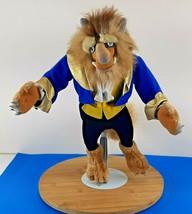 "Vintage Disney Beauty and The Beast Plush 15"" Stuffed Animal Beast Doll - $27.34"