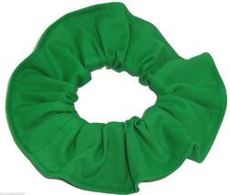 Kelly Green Cotton Fabric Hair Scrunchie Scrunchies by Sherry Handmade USA  - $6.99