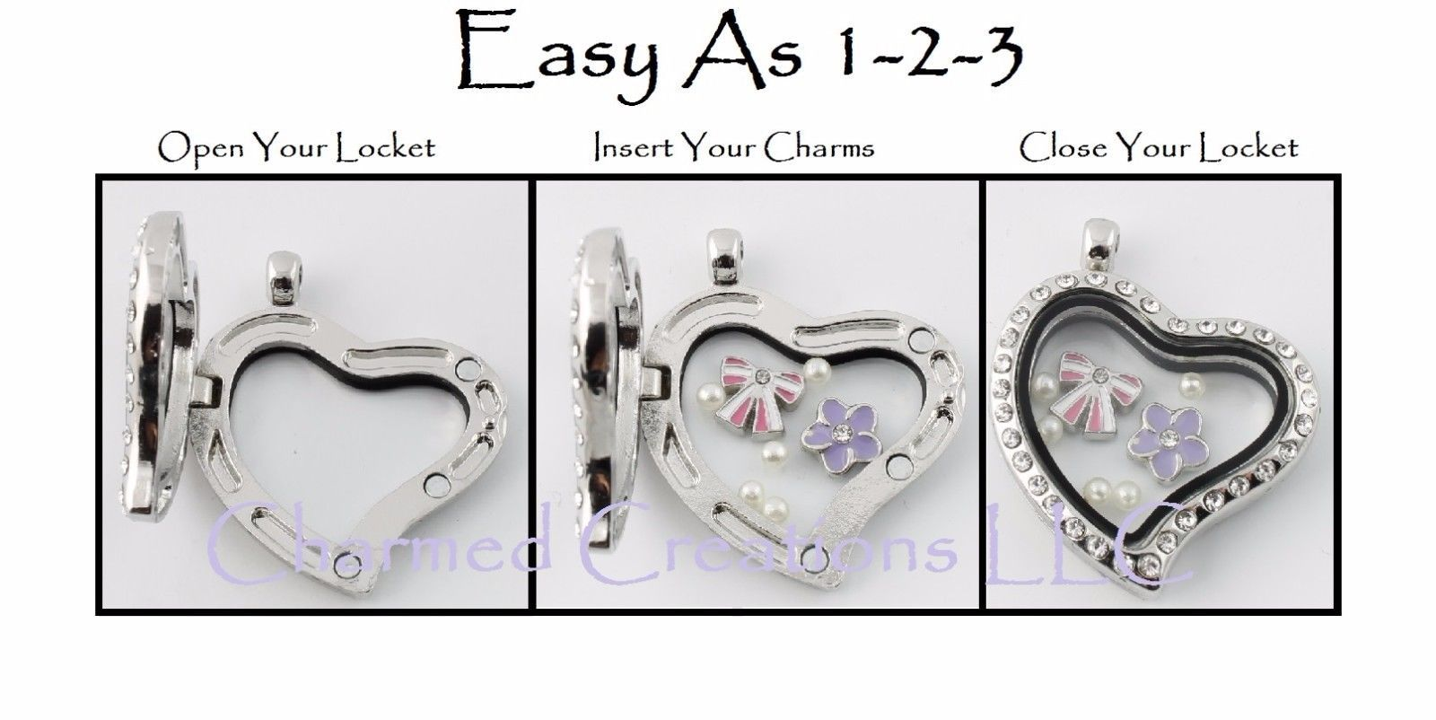 10pc Silver Tone FAITH Script Religious Floating Charm For Glass Memory Locket